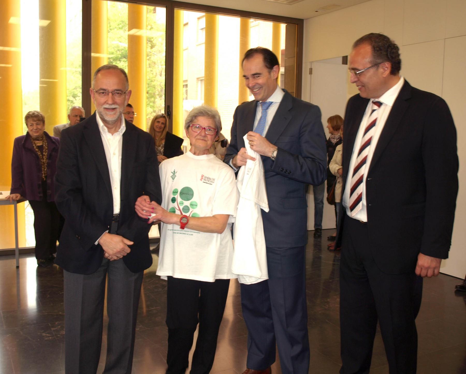 Francisco Anton, Amparo Munoz, Manuel Llombart y Sergio Blasco