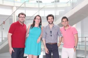 Ignacio Domingo, Gemma Muñoz, Juan Carlos Ferrer, jefe de estudios y presidente de la Comisión de Docencia y marco Fernández