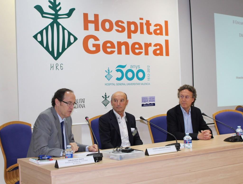 2015 06 26 Carles Blay Vicente Ferrandis Carlos Sanchez Jornada diabetes