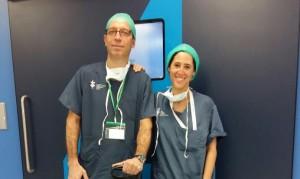 Pablo Badia y Beatriz Novoa. Traumatologos