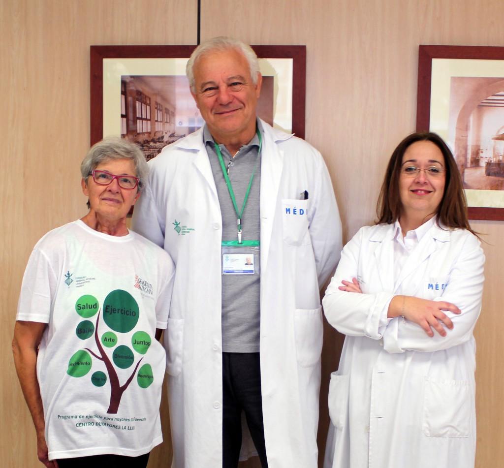 Proyecto ACTIVA Paciente experto, director gerente y Carolina Mir