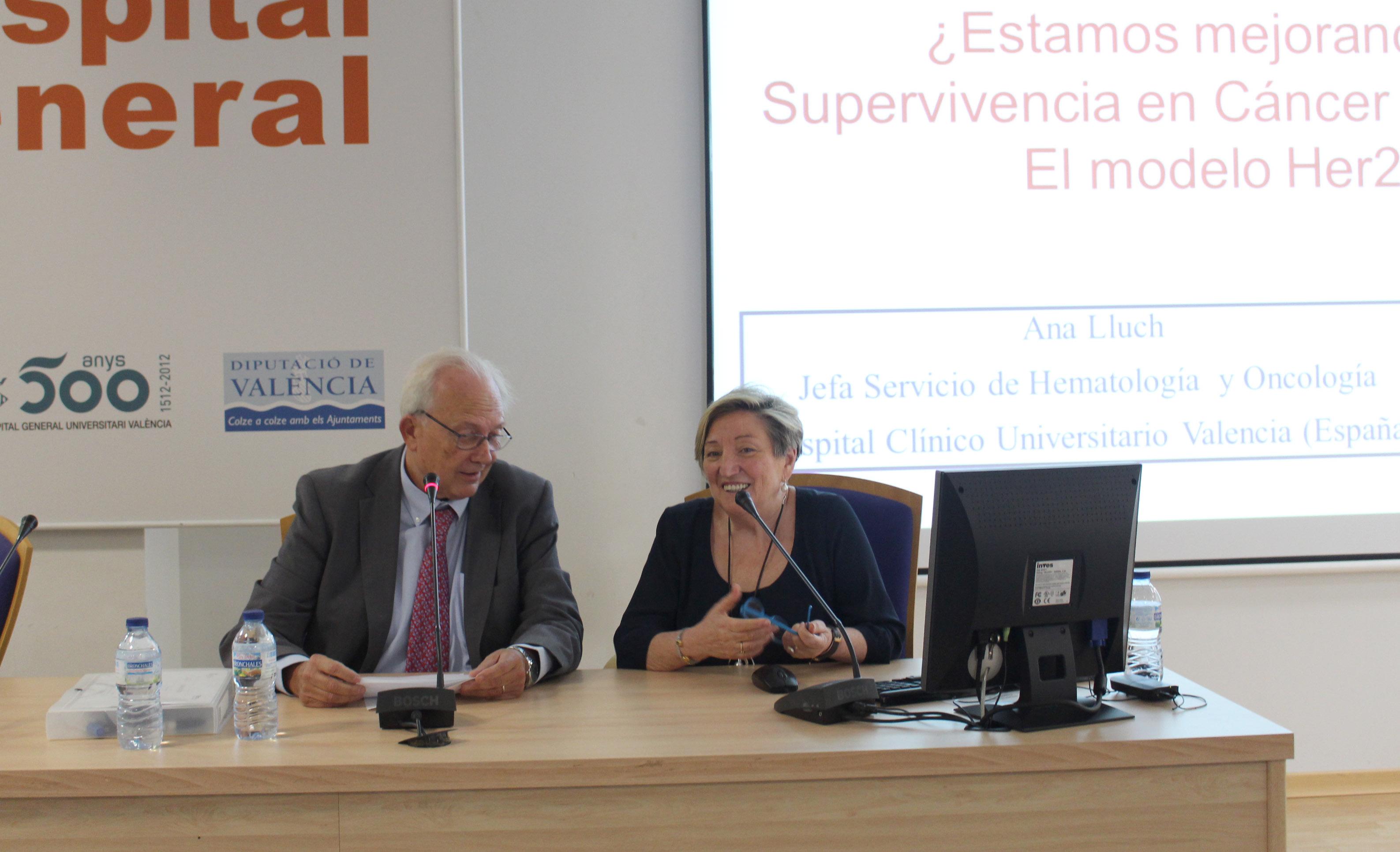 2017 09 29 Carlos Camps y Ana Lluch Jornada Cancer de Mama Hospital General de Valencia