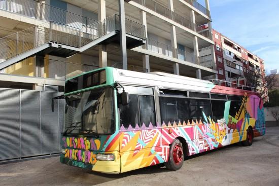 Autobus solidaridad sobre ruedas